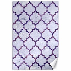 Tile1 White Marble & Purple Marble (r) Canvas 24  X 36  by trendistuff