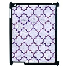 Tile1 White Marble & Purple Marble (r) Apple Ipad 2 Case (black) by trendistuff