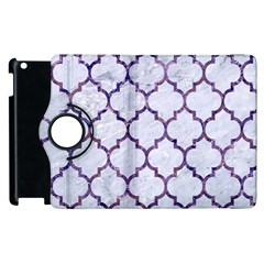 Tile1 White Marble & Purple Marble (r) Apple Ipad 2 Flip 360 Case by trendistuff