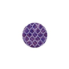 Tile1 White Marble & Purple Marble 1  Mini Buttons