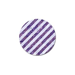 Stripes3 White Marble & Purple Marble (r) Golf Ball Marker (10 Pack) by trendistuff