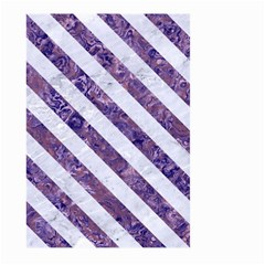 Stripes3 White Marble & Purple Marble Large Garden Flag (two Sides) by trendistuff