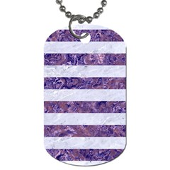 Stripes2white Marble & Purple Marble Dog Tag (one Side) by trendistuff
