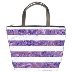 Stripes2white Marble & Purple Marble Bucket Bags by trendistuff