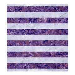 Stripes2white Marble & Purple Marble Shower Curtain 66  X 72  (large)  by trendistuff