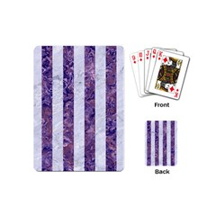 Stripes1 White Marble & Purple Marble Playing Cards (mini)  by trendistuff