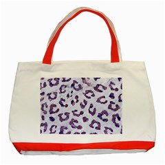 Skin5 White Marble & Purple Marble Classic Tote Bag (red) by trendistuff