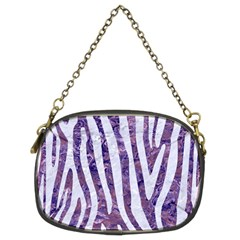 Skin4 White Marble & Purple Marble (r) Chain Purses (two Sides)  by trendistuff
