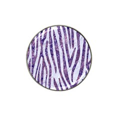 Skin4 White Marble & Purple Marble Hat Clip Ball Marker (10 Pack) by trendistuff