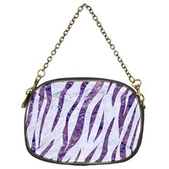 Skin3 White Marble & Purple Marble (r) Chain Purses (one Side)  by trendistuff
