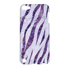 Skin3 White Marble & Purple Marble (r) Apple Ipod Touch 5 Hardshell Case by trendistuff