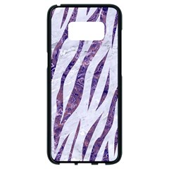 Skin3 White Marble & Purple Marble (r) Samsung Galaxy S8 Black Seamless Case