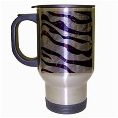 Skin2 White Marble & Purple Marble (r) Travel Mug (silver Gray) by trendistuff
