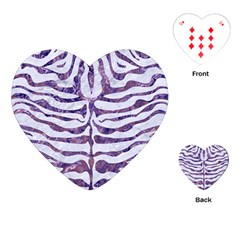 Skin2 White Marble & Purple Marble (r) Playing Cards (heart)  by trendistuff