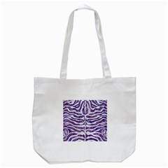 Skin2 White Marble & Purple Marble Tote Bag (white) by trendistuff