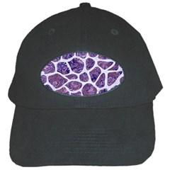 Skin1 White Marble & Purple Marble (r) Black Cap by trendistuff