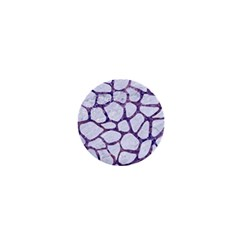 Skin1 White Marble & Purple Marble 1  Mini Buttons