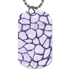 Skin1 White Marble & Purple Marble Dog Tag (two Sides) by trendistuff