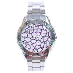 Skin1 White Marble & Purple Marble Stainless Steel Analogue Watch by trendistuff