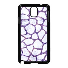 Skin1 White Marble & Purple Marble Samsung Galaxy Note 3 Neo Hardshell Case (black) by trendistuff