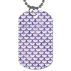 Scales3 White Marble & Purple Marble (r) Dog Tag (one Side) by trendistuff