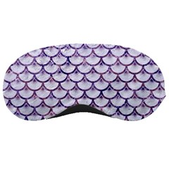 Scales3 White Marble & Purple Marble (r) Sleeping Masks by trendistuff