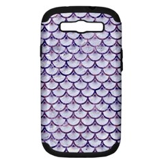 Scales3 White Marble & Purple Marble (r) Samsung Galaxy S Iii Hardshell Case (pc+silicone) by trendistuff