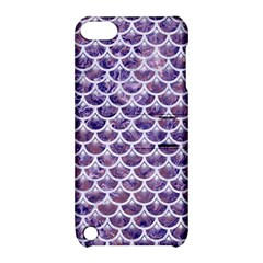 Scales3 White Marble & Purple Marble Apple Ipod Touch 5 Hardshell Case With Stand by trendistuff
