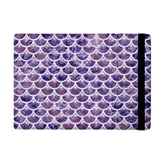 Scales3 White Marble & Purple Marble Ipad Mini 2 Flip Cases by trendistuff