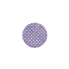 Scales2 White Marble & Purple Marble (r) 1  Mini Magnets