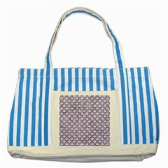 Scales2 White Marble & Purple Marble (r) Striped Blue Tote Bag by trendistuff