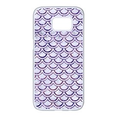 Scales2 White Marble & Purple Marble (r) Samsung Galaxy S7 Edge White Seamless Case by trendistuff