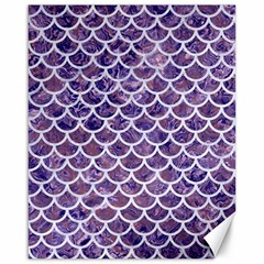 Scales1 White Marble & Purple Marble Canvas 16  X 20   by trendistuff