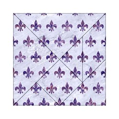 Royal1 White Marble & Purple Marble Acrylic Tangram Puzzle (6  X 6 ) by trendistuff