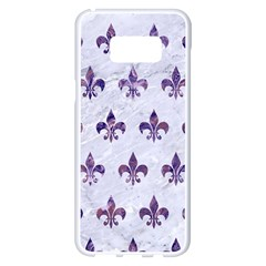 Royal1 White Marble & Purple Marble Samsung Galaxy S8 Plus White Seamless Case