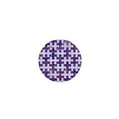 Puzzle1 White Marble & Purple Marble 1  Mini Magnets