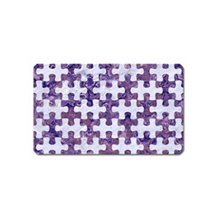 Puzzle1 White Marble & Purple Marble Magnet (name Card) by trendistuff
