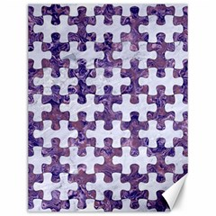 Puzzle1 White Marble & Purple Marble Canvas 12  X 16   by trendistuff