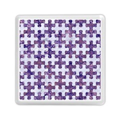 Puzzle1 White Marble & Purple Marble Memory Card Reader (square)  by trendistuff