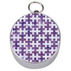 Puzzle1 White Marble & Purple Marble Silver Compasses by trendistuff