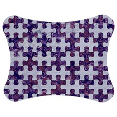Puzzle1 White Marble & Purple Marble Jigsaw Puzzle Photo Stand (bow)