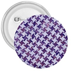 Houndstooth2 White Marble & Purple Marble 3  Buttons by trendistuff