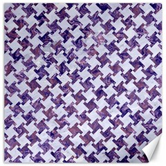Houndstooth2 White Marble & Purple Marble Canvas 12  X 12   by trendistuff
