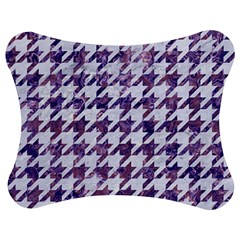 Houndstooth1 White Marble & Purple Marble Jigsaw Puzzle Photo Stand (bow)