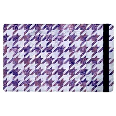 Houndstooth1 White Marble & Purple Marble Apple Ipad Pro 12 9   Flip Case by trendistuff