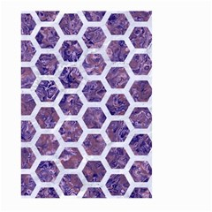 Hexagon2 White Marble & Purple Marble Large Garden Flag (two Sides) by trendistuff