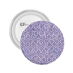 Hexagon1 White Marble & Purple Marble (r) 2 25  Buttons by trendistuff