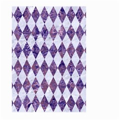 Diamond1 White Marble & Purple Marble Large Garden Flag (two Sides) by trendistuff