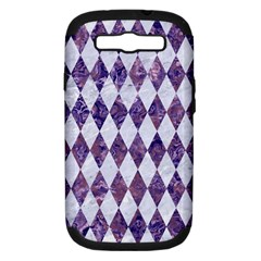 Diamond1 White Marble & Purple Marble Samsung Galaxy S Iii Hardshell Case (pc+silicone) by trendistuff