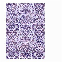 Damask2 White Marble & Purple Marble (r) Small Garden Flag (two Sides) by trendistuff